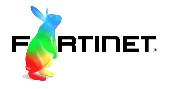 Fortinet logo with Google Fiber rabbit