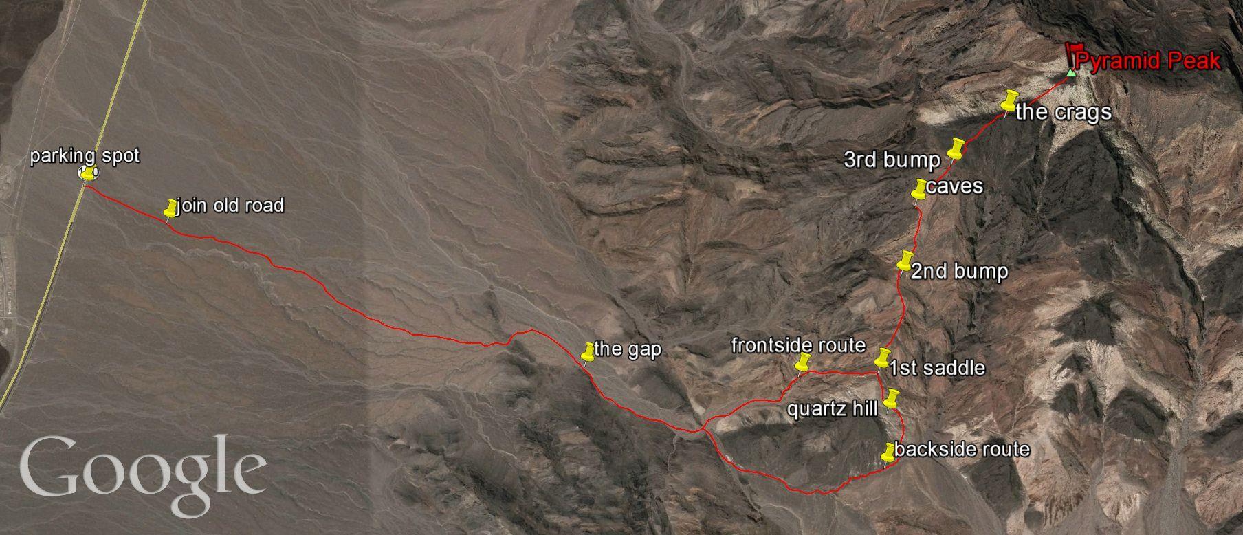 Pyramid Peak trail