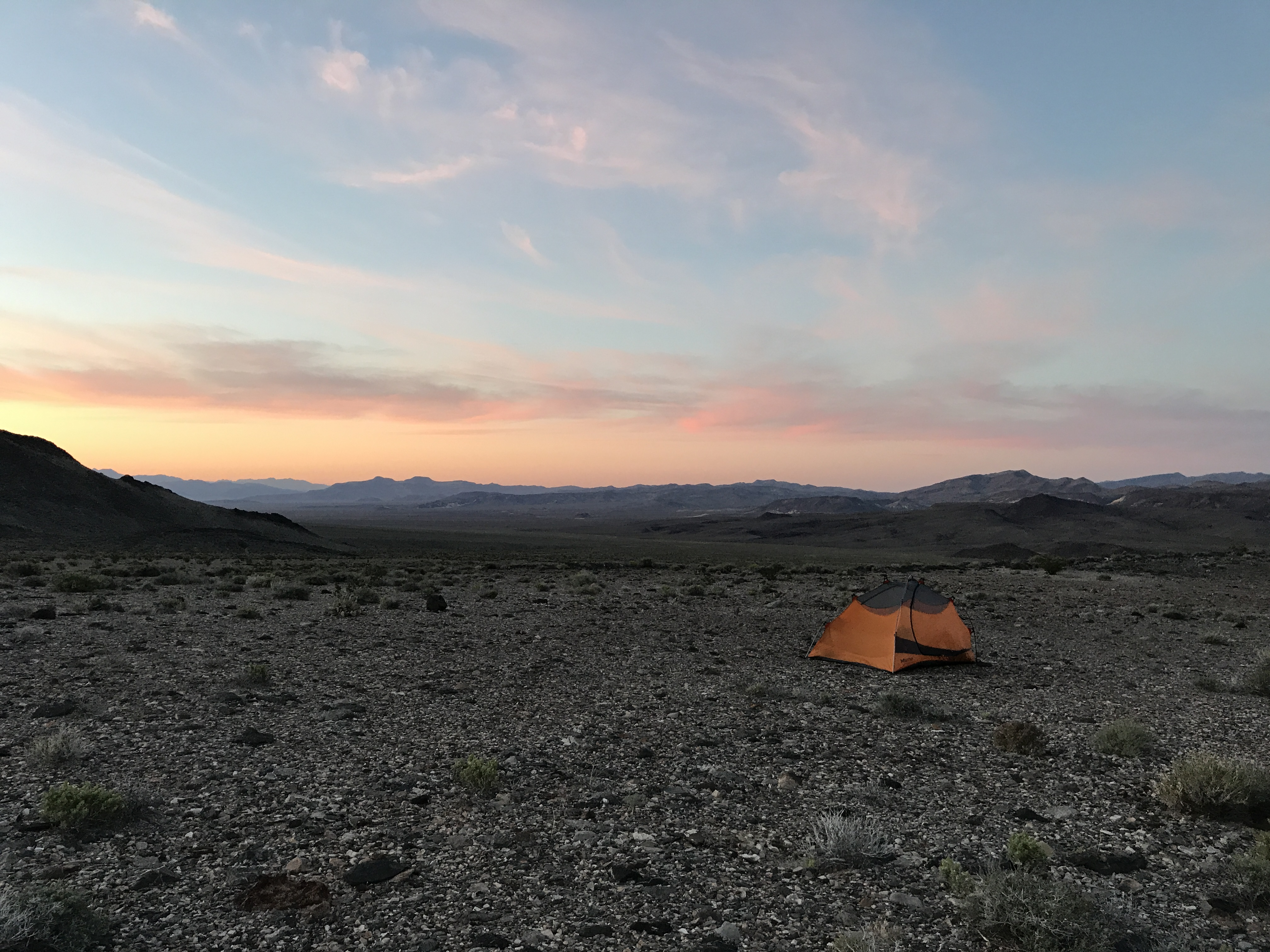 Early morning Pyramid Peak base camp