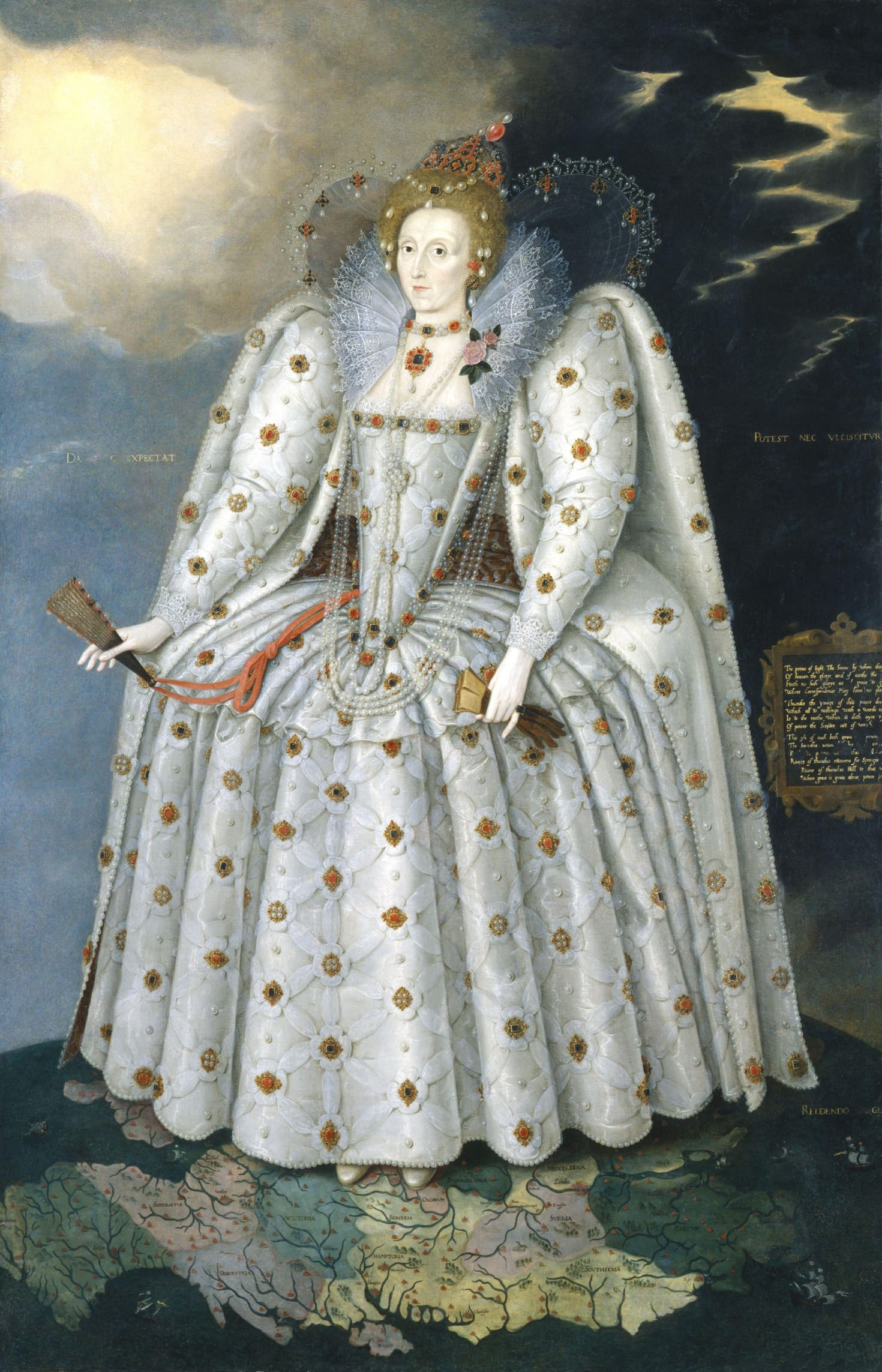 Queen Elizabeth I The Ditchley portrait by Marcus Gheeraerts the Younger