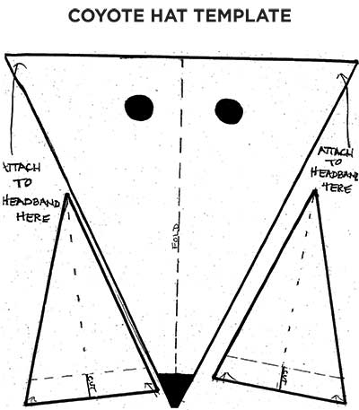 Coyote Hat Template