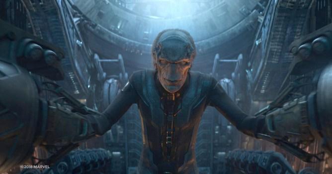 Tom Vaugh Lawlor in the Marvel film Avengers Infinity War