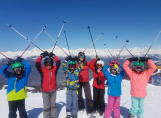 Fairfield children out on the Ski Trip
