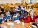 Fairfield children eating their breakfast