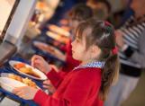 Fairfield children having their school lunch