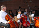 Fairfield children playing the Violin