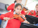 Fairfield pupil playing the violin