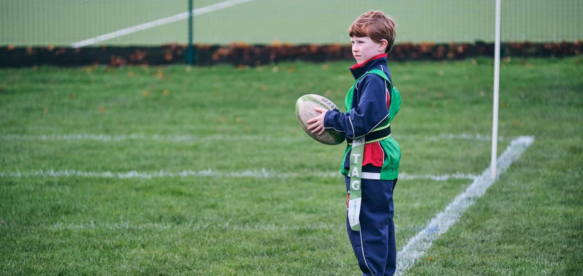 Fairfield pupil playing Tag Rugby
