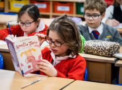 Fairfield pupils in quiet reading