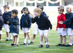 Pre-Prep children ready to set off for Sports Day