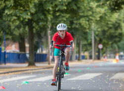 Fairfield Pupil riding a bike for their extra-curricular activity