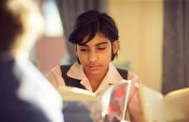 Fairfield pupil reading books