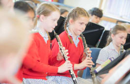 Fairfield pupil learning how to play the flute