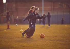 High School Pupils playing Football