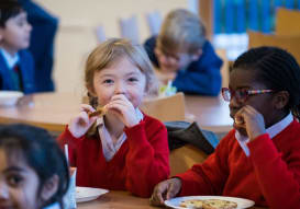 Pre-Prep children having breakfast