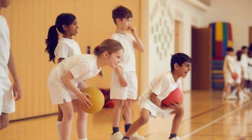 pre prep children in the gym