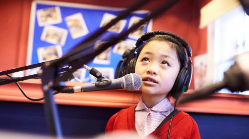 Fairfield children using the Radio Room