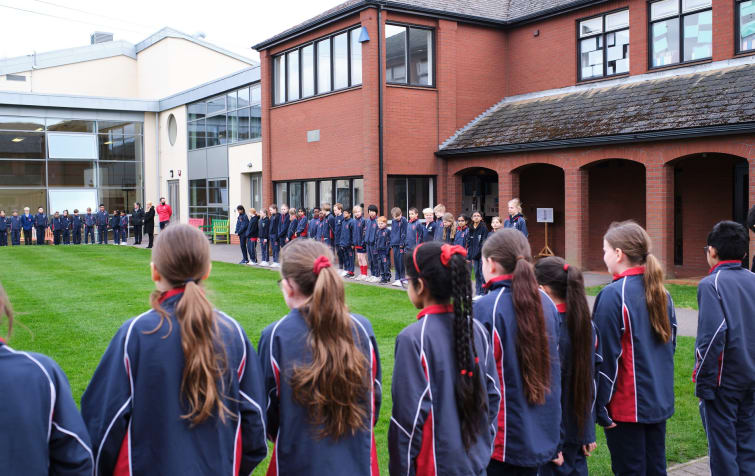 Fairfield pupils observe minute silence to mark a year since Covid lockdown featured image