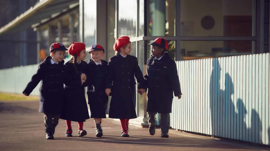 Fairfield pupils wearing new uniform