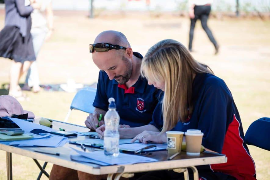 Andrew Earnshaw & Penny Barton on Sports Day