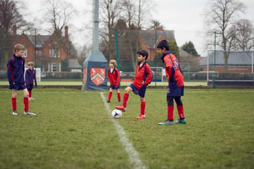 Fairfield Pupils Playing Football