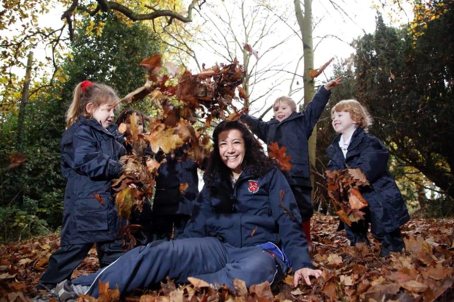 Mrs Alves at Forest School