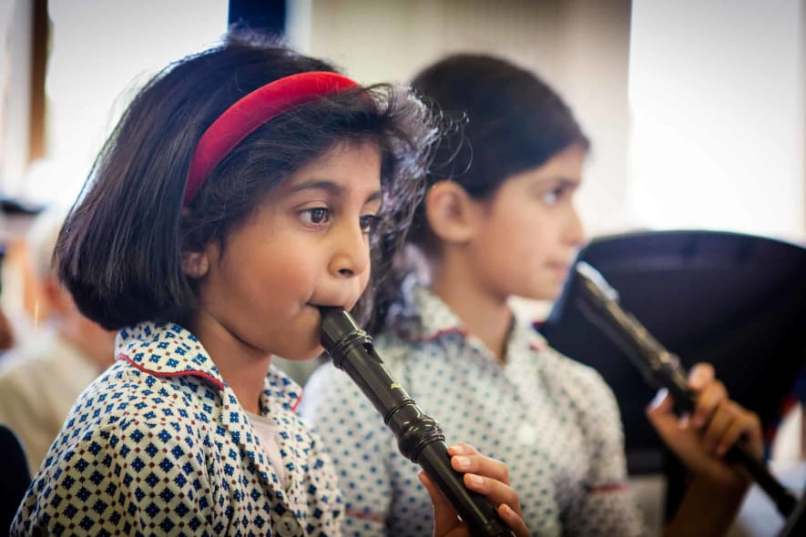 Fairfield children playing the flute