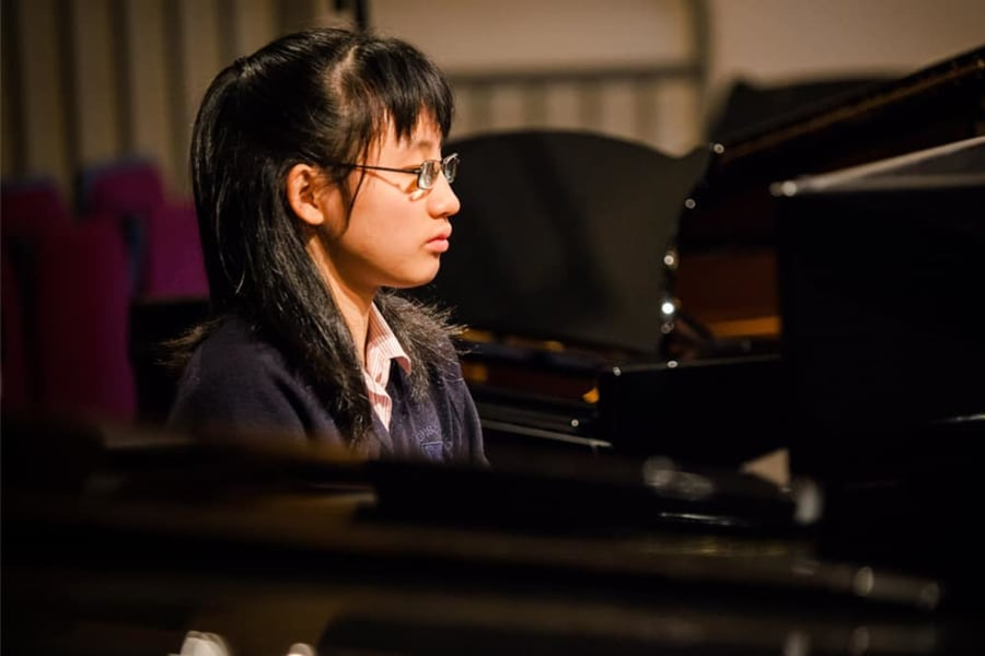 LHS pupil playing piano