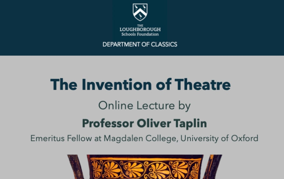 Professor Oliver Taplin Online Lecture 2021 featured image
