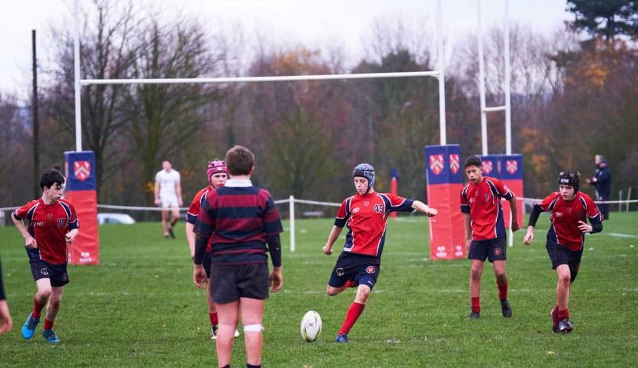 Grammar School pupils playing Rugby