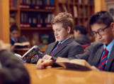 LGS pupils in the library
