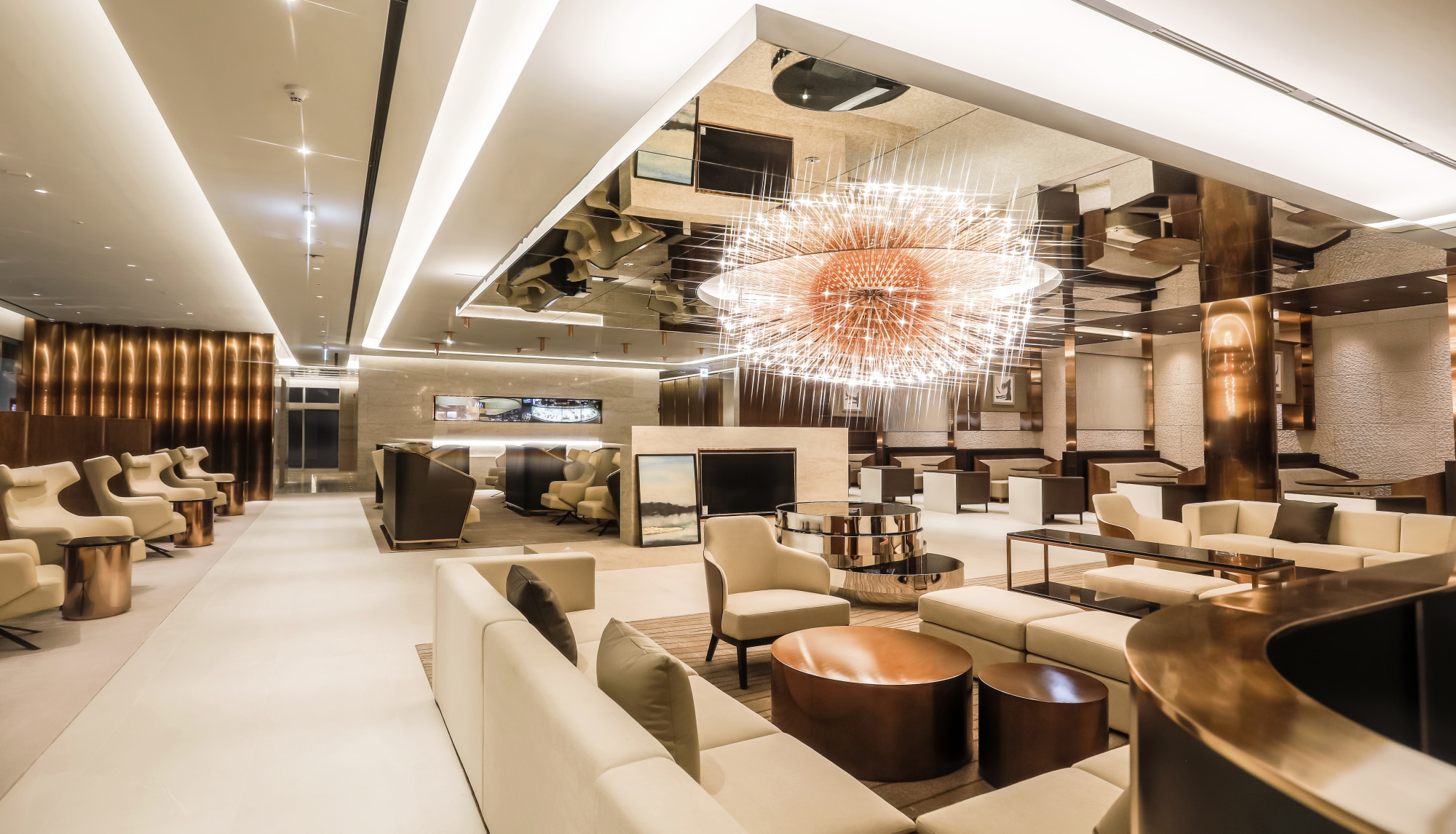 Solid gold vip lounge