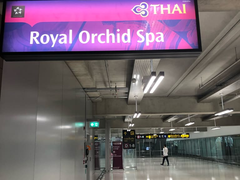 BKK: Thai Airways Royal Orchid Spa Reviews & Photos - Concourse D