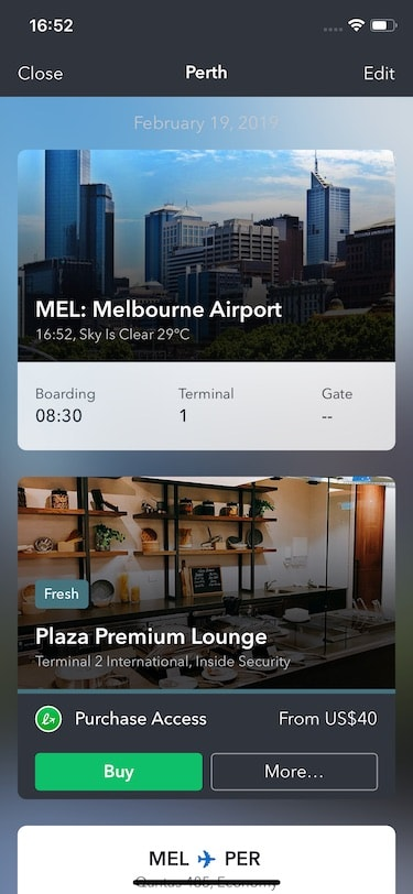 LoungeBuddy iOS App ScreenShot 1