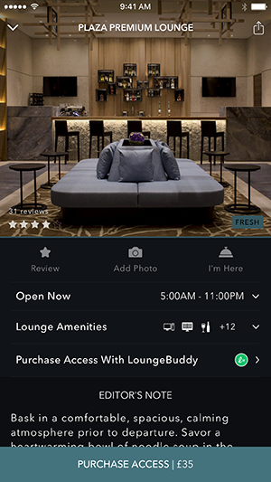 LoungeBuddy iOS App ScreenShot 3