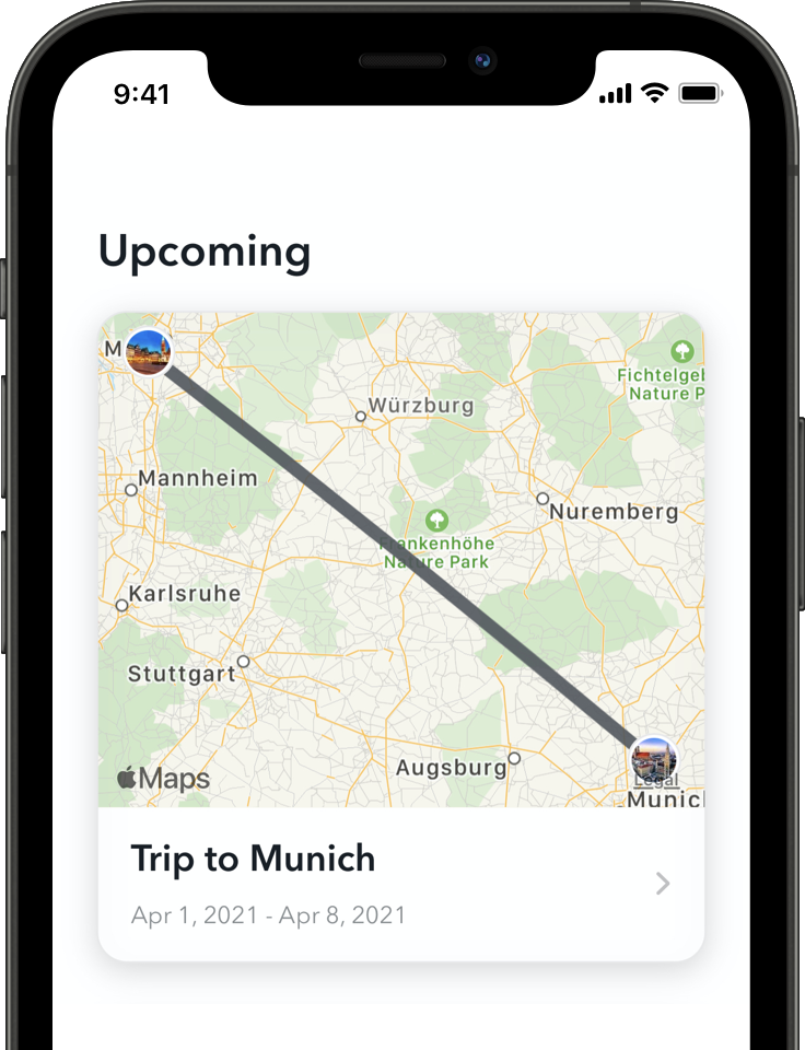 Screenshot der LoungeBuddy-App für iOS