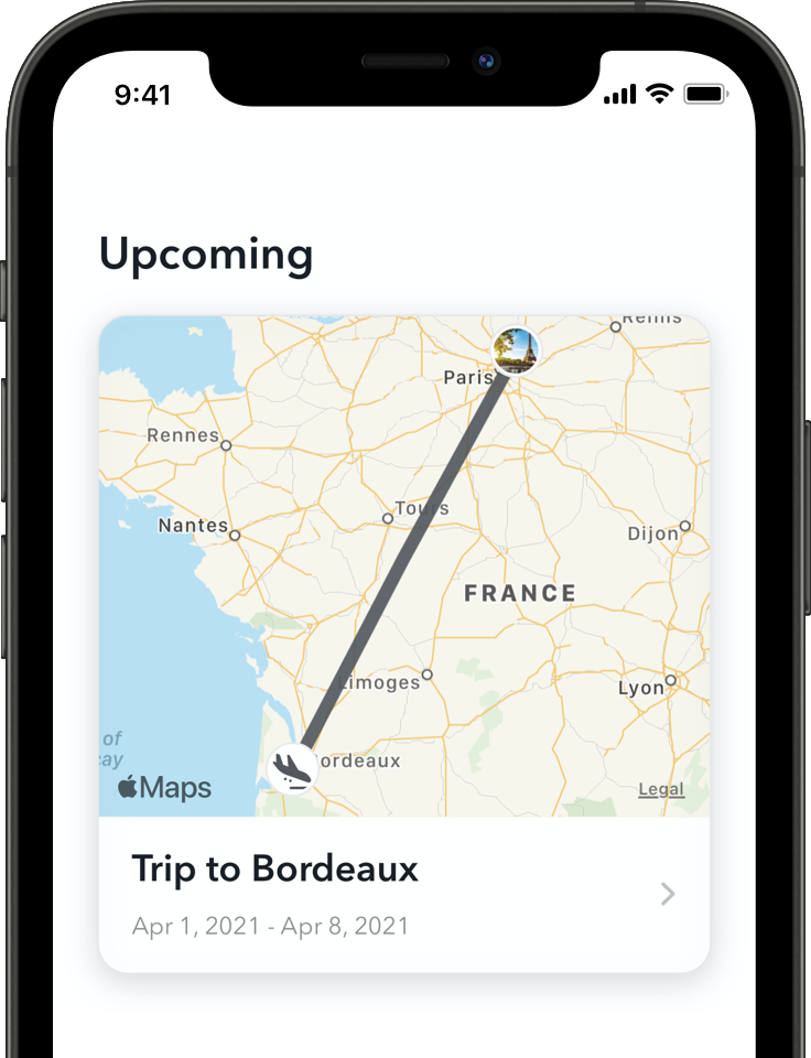 Capture d'écran de l'application LoungeBuddy iOS