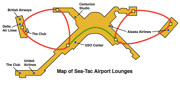 Seattle Map Airport.Seattle Airport Lounges The Ultimate Guide Loungebuddy