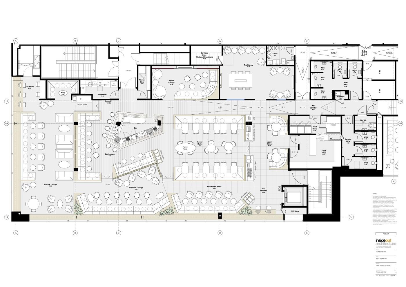 Floor Plan, No1 Gatwick Lounge, South Terminal
