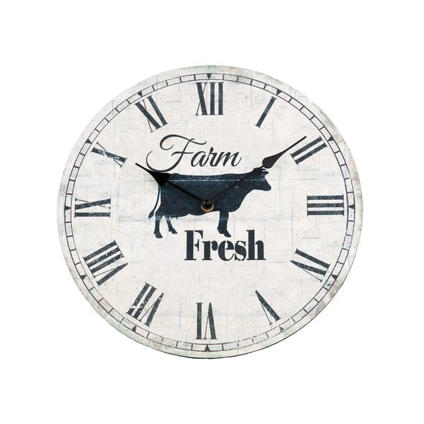 """Farm Fresh"" wall clock -  - LovelyLittleThings.co.za"