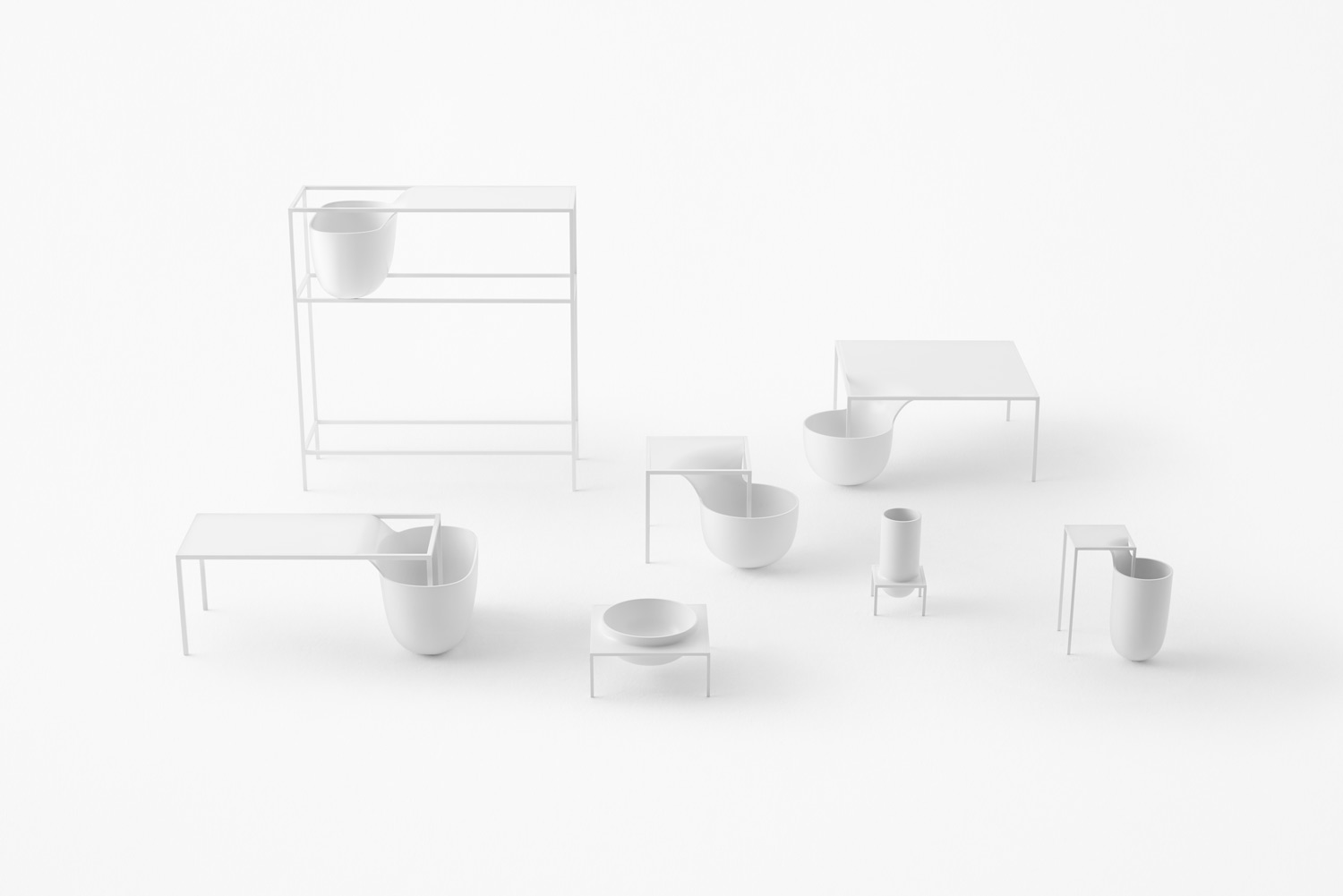 Flow Bowl Table by Nendo
