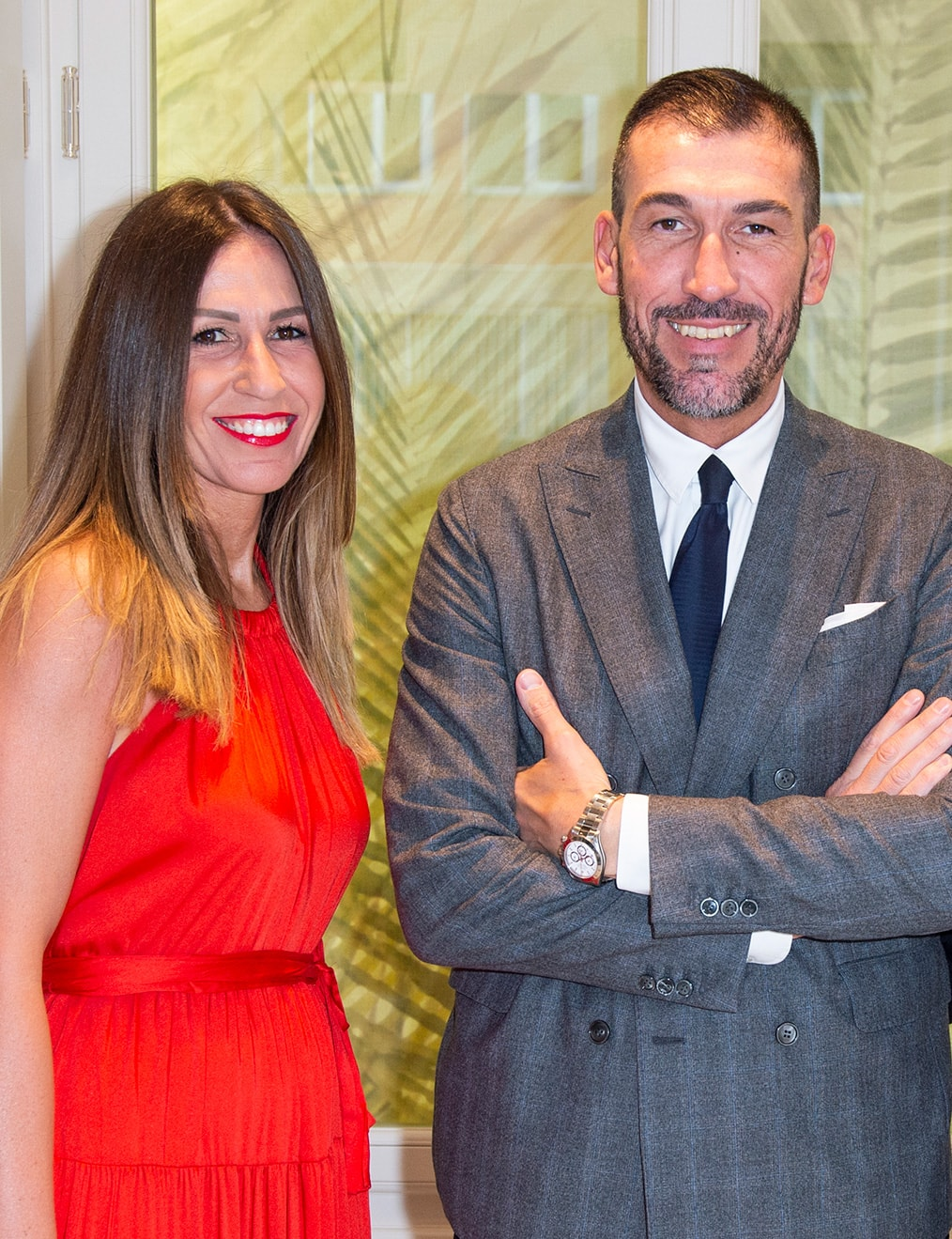 Silvia Gorlini, la store manager di SANTASOFIA27, con il fratello Alberto, architetto