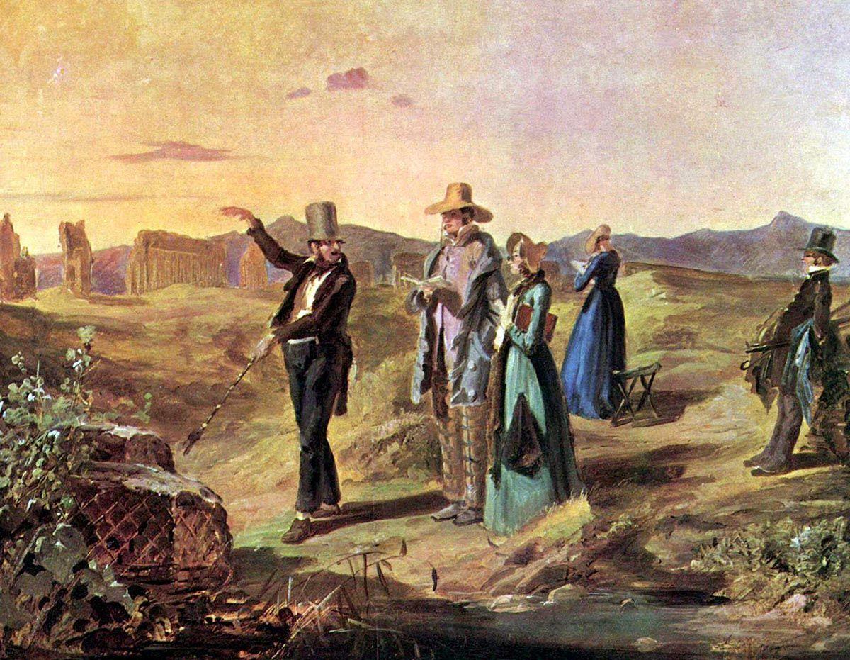 Franz Carl Spitzweg, Turisti inglesi in Campania, 1845