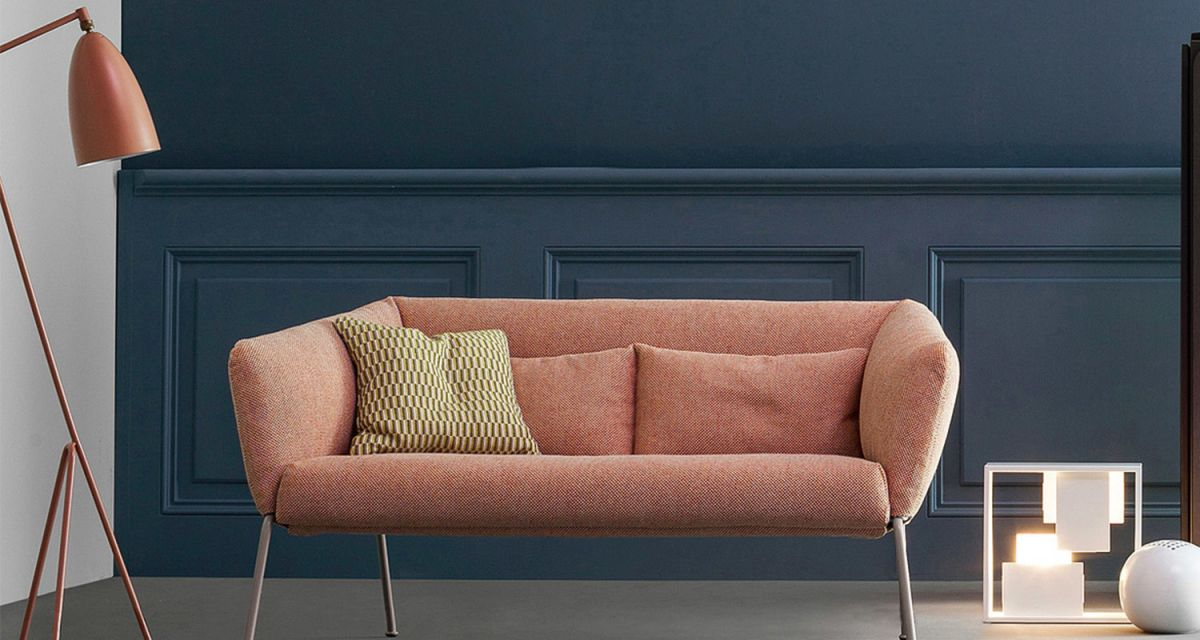 Nikkos sofa by Bonaldo and Grasshopper lamp