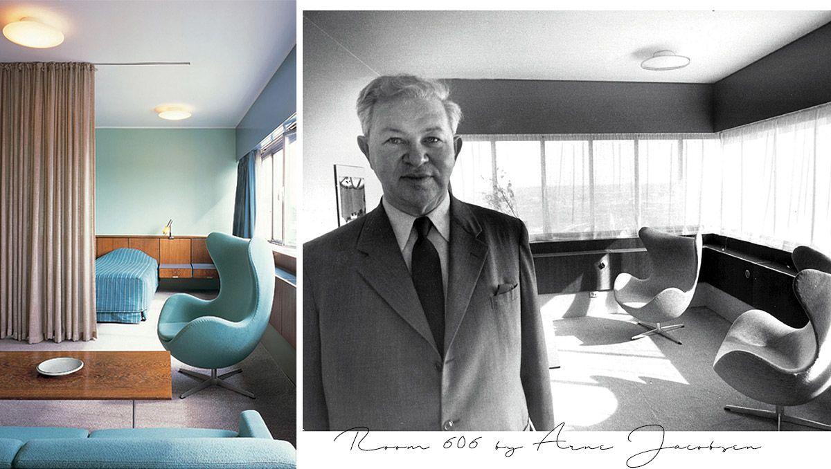 La stanza 606 firmata da Arne Jacobsen