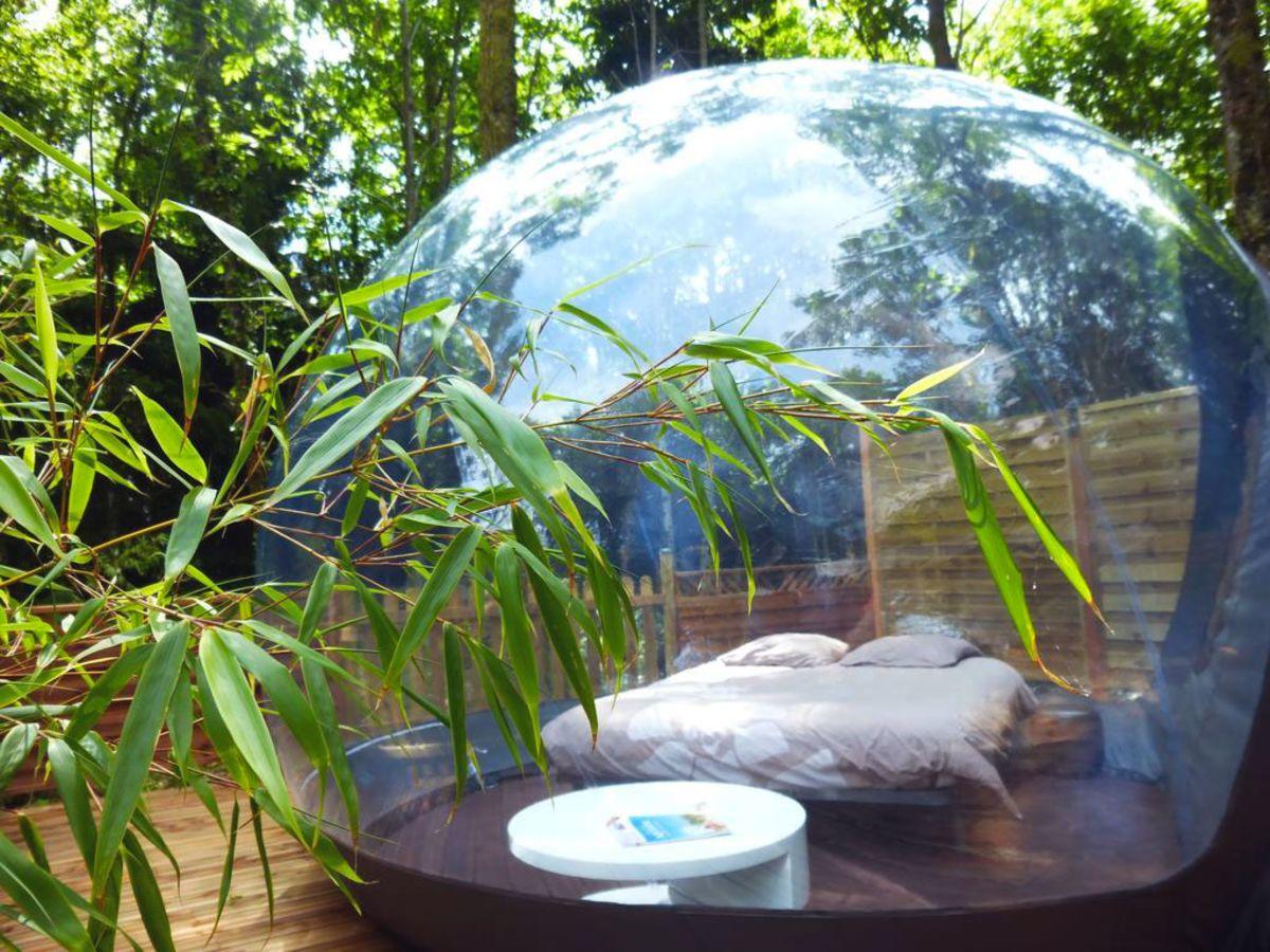 une bulle sous les etoiles dournazac dormire in una bolla