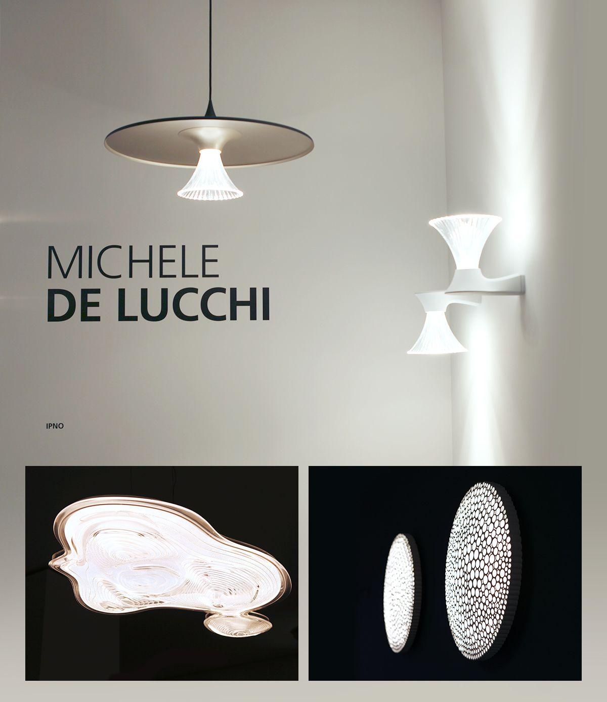 in alto: Ipno, design di Michele de Lucchi per Artemide / sotto, da sinistra a destra: Pingtan, design di MAD Architect per Artemide + Calipso, design di Neil Poulton per Artemide