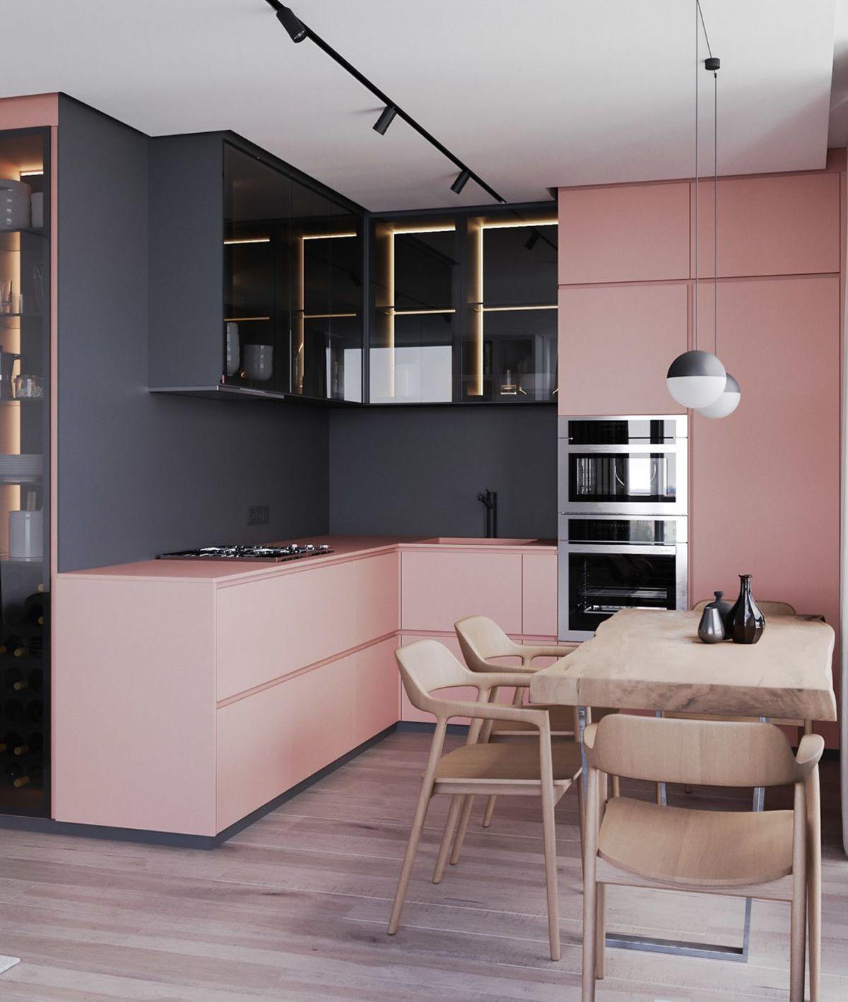 Cucina ad angolo - design di Ruslan Kovalchuk, Mariya Chmut e Stephen Tsimbalyuk