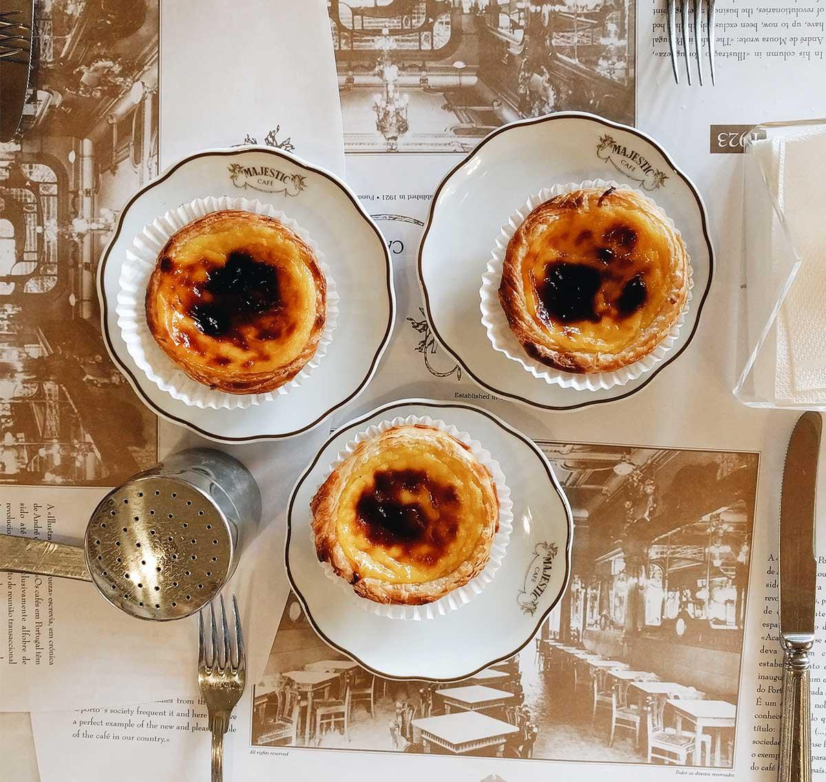 pasteis de nata al Cafè Majestic
