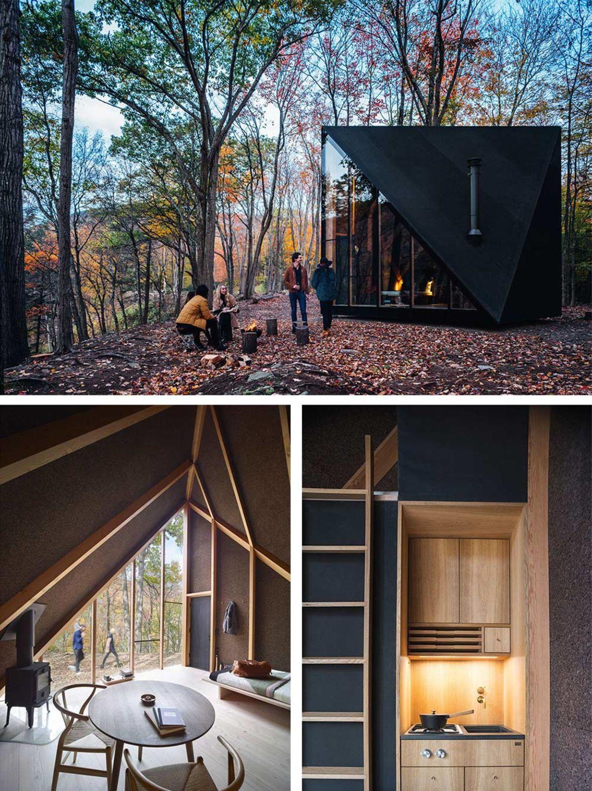 Tra le mini case in legno, la A45 di Bjarke Ingles Group per Klein rende il prefabbricato elegante